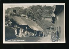 Devon BRANSCOMBE The Old Forge + Tea Shop c1930/40s? RP PPC