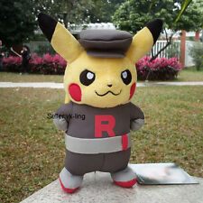 "Pokemon Go Pikachu With Team Rocket Suit 8"" Plush Toy Lovely Stuffed Animal Doll"