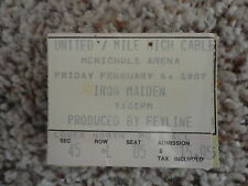 Iron Maiden Concert Ticket Stub Denver Co. 2-6-87 produced by Feyline