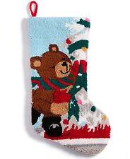Holiday Lane Hooked Bear Stocking