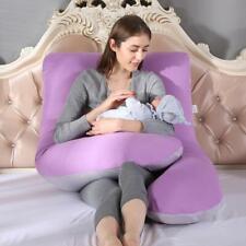 Maternity U-shape Pillow Case Multi-functional Pure Cotton Cover Pregnant Women