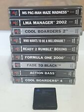 Sony PS 1 Playstation 1 Video Game Bundle x 9 Pac Man Cool Boarders + Memory