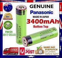 Panasonic NCR 18650 B 3400mAh Button Top Li-Ion Rechargeable Battery GENUINE