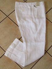 Murano 100% Linen Dress Pants Mens 30 x 30 White w/ Cuffs Baird McNutt NWT $79