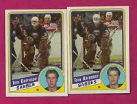 2 X 1984-85 TOPPS  # 14 SABRES TOM BARRASSO  ROOKIE NRMT-MT GOALIE (INV# 7758)