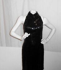NITELINE by DELLA ROUFOGALI SEXY SEQUINED LITTLE BLACK DRESS -SIZE SMALL