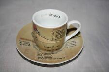 Physics Espresso Set Könitz Porzellan Physik in englisch 0,08L Tasse +Untertasse