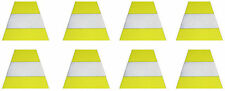 Firefighter Helmet Decal - 8 Triple Trim Trapezoid-SET OF 8- FREE SHIPPING