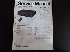 Original Service Manual  Technics SL-PS700