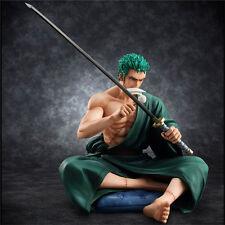 Anime One Piece POP Roronoa Zoro Sitting Limited 1/8 PVC Figure Figurine 13cm NB