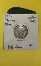 1934 Mercury Silver Dime!!! Better Date!!! Nice Coin!!! 90% Silver!!!