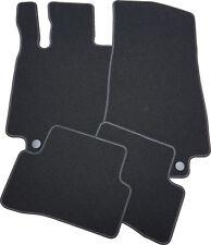 Für Mercedes E-Klasse S212 Bj. 11.09-12.13 Fußmatten Schlinge schwarz Nubukband