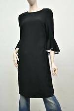 NWT Joseph Ribkoff Dress Black Sz 12 Flare Ruffle Sleeves 184015