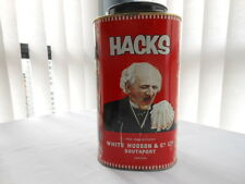 HACKS Advertising Tin 5lb Container Cough Drop Candy White Hudson & Co
