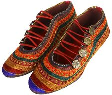 US 5.5 To 8.5 Ballet Women Jutti Mojari Sandal Khussa Embroidered Loop Shoes