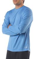 A4 Men's Moisture Wicking Textured Tech Long Sleeve Resistant T-Shirt. N3253