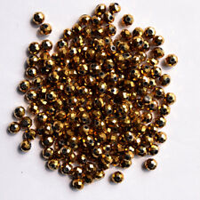 Wholesale 4-8mm 100-1000pcs Ellipse Faceted 5301# Crystal Glass Spacer Beads