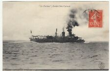 """Shipping; Coastal Defence Cruiser """"Furieux"""" PPC 1911, To Mlle Fromageot, Beaune"""