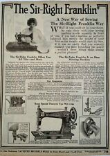 1917 Sit Right Franklin Sewing Machine Photo Sears Catalog Page Vintage Print Ad