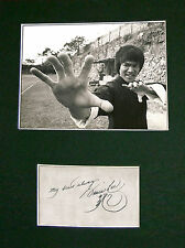 BRUCE LEE Signed Mounted Autograph Photo Print (A4) No107