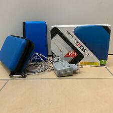 Nintendo 3ds XL handheld-videoconsola azul & negro con estuche duro