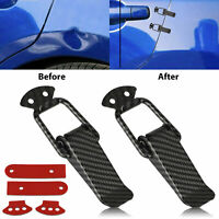 2x Carbon Fiber Car Bumper Trunk Fender Hatch Lids Quick Release Fastener Black