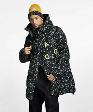 New Large Men's Nike NikeLab ACG Down-Fill Parka Jacket $700 Black AQ3517-010