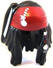 LEGO - Minifig, Headgear Hair Dreadlocks with Beads and Dark Red Bandana