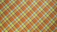 100%Cotton Lawn Plaid printed fabric,Orang/Yellow  Multi color,by the yard