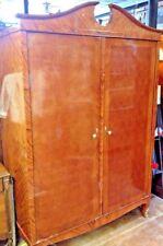 French Antique Louis XV Armoire; Tulipwood & Kingwood Parquetry Wardrobe Closet