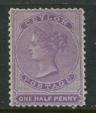 Ceylon 1863 6d deep brown VF used