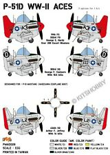 PMA Decal EGGPLANE (Egg Plane) P-51D Mustang ACES of 8th AF and Tuskegee airmen