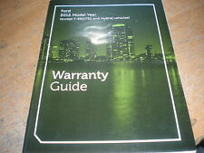 2012 FORD MUSTANG SHELBY BOSS 302 ESCAPE F150 WARRANTY OWNERS MANUAL SUPPLEM