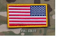 Morale Patch - Milspec Monkey - USA US REVERSED Flag - FULL COLOR scheme