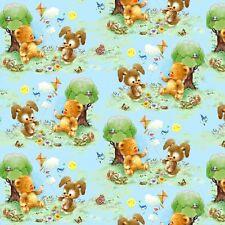 Fat Quarter Best Friends Animals Kite Flying Cotton Quilting Fabric  SPX