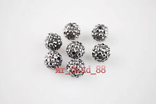 20ps European Crystal Rhinestone Pave Clay Round Ball Finding Bead 10mm 27Colors