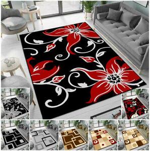 Large Rugs Living Room Carpet Floral Rug Runner Non Slip Modern Bedroom Carpets
