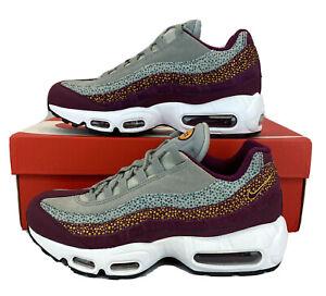 Nike Air Max 95 Premium Bordeaux Yellow Running Shoes 807443-601 Womens Sz 8.5