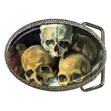 Unbranded Men's Skeletons and Skulls Belt Buckle