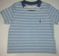 Ralph Lauren Baby Boy's Blue Tee Top T-Shirt Size 12M