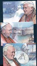 VATICAN 2006, RADIO VATICAN ANNIVERSARY, POPES, SET OF 5 PREPAID POST CARDS