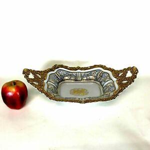 Old German Gilt Decorated Berlin Empire Handled Ornate Decorative Bowl