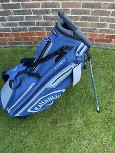 Callaway Golf Chev Stand - Carry Bag 5-Way Top - Navy/Silver