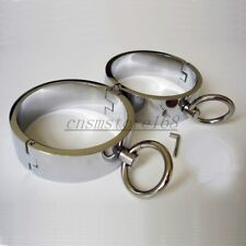 Slave Shackle Stainless Steel Collar Wrist Ankle cuff Restraints Game for Unisex