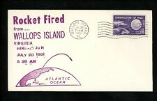 US Postal History Space Rocket Fired Launch Nike-Cajun 1961 Wallops Island VA