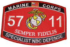 United States Marine Corps MOS 5711 Specialist NBC Defense MOS Military Patch -
