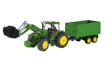 John Deere 7930 Tractor With Loader Trailer 1:16 Scale Model Toy Gift Christmas
