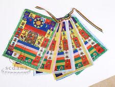 Buddhist Tibetan Prayer Flag 133 Inch Long Large Size Brocade Colorful Flag