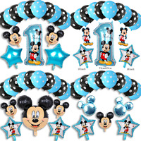 Disney Mickey Mouse Birthday Balloons Foil Latex Party Decorations Gender Reveal