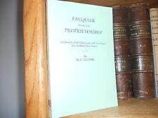 Fauquier During The Proprietorship Genealogy Book